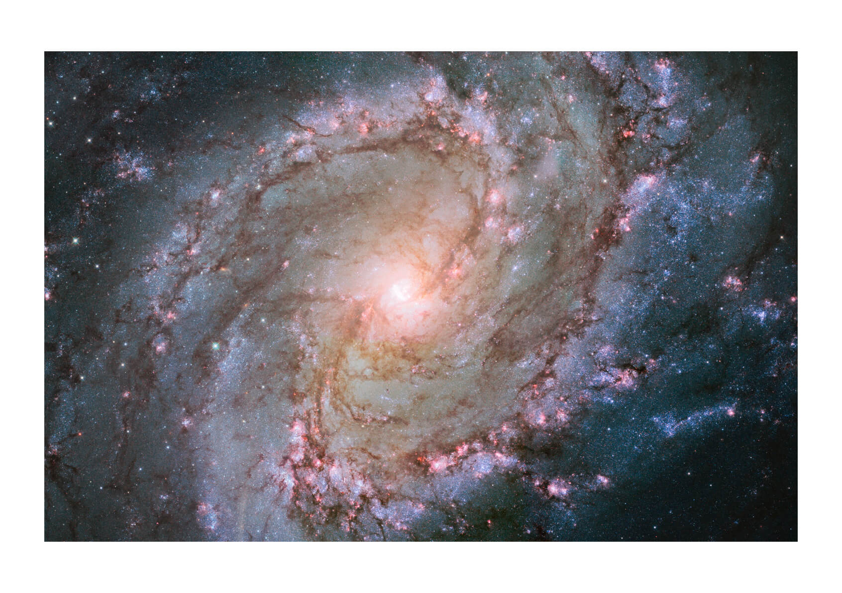 Hubble Telescope - view of barred spiral galaxy Messier 83