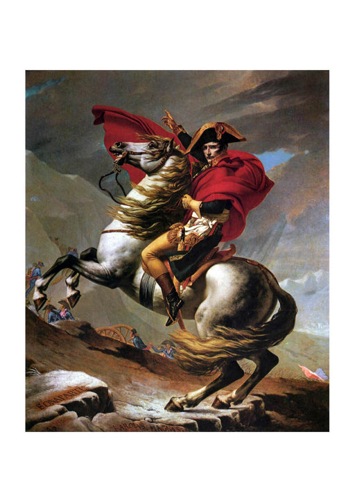 Jacques David - Napoleon Crossing the Alps