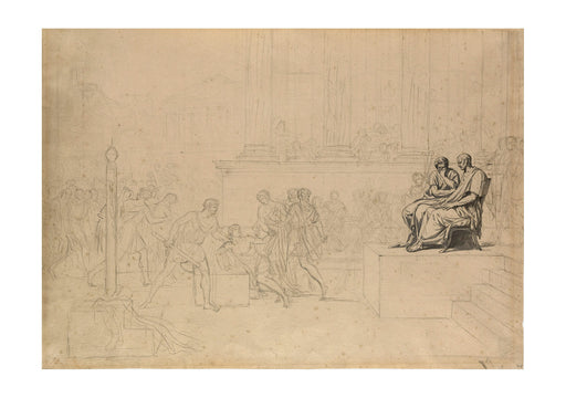 Jacques David - Study for the Execution of the Sons of Brutus