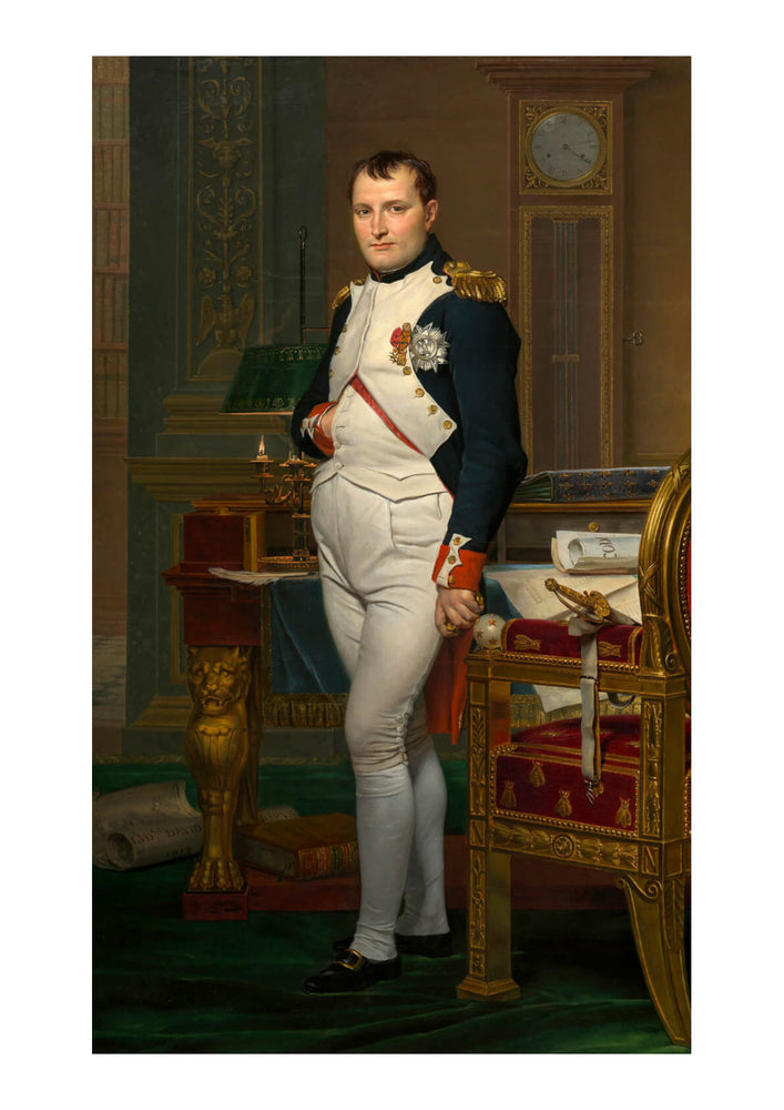 Jacques David - The Emperor Napoleon in His Study at the Tuileries