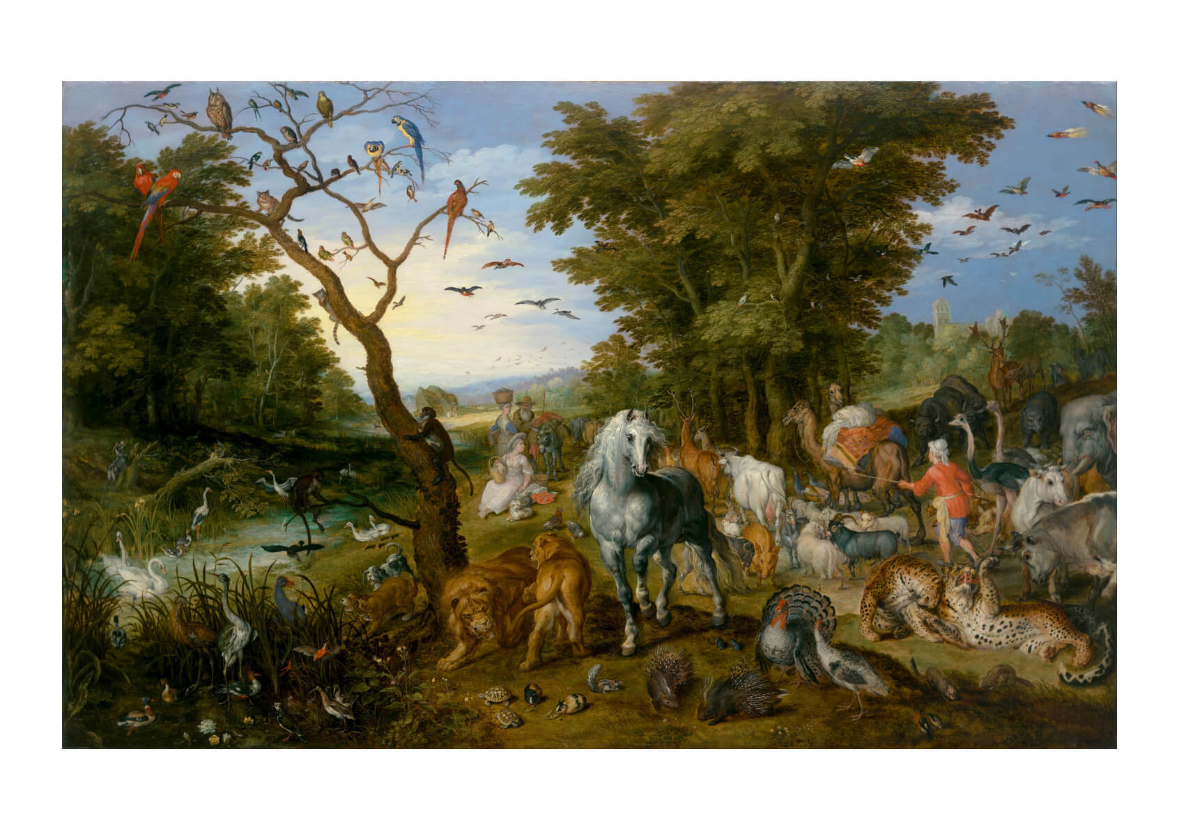 Jan Brueghel the Elder The Entry of the Animals into Noah's Ark