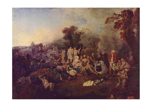 Jean Antoine Watteau - The Camp