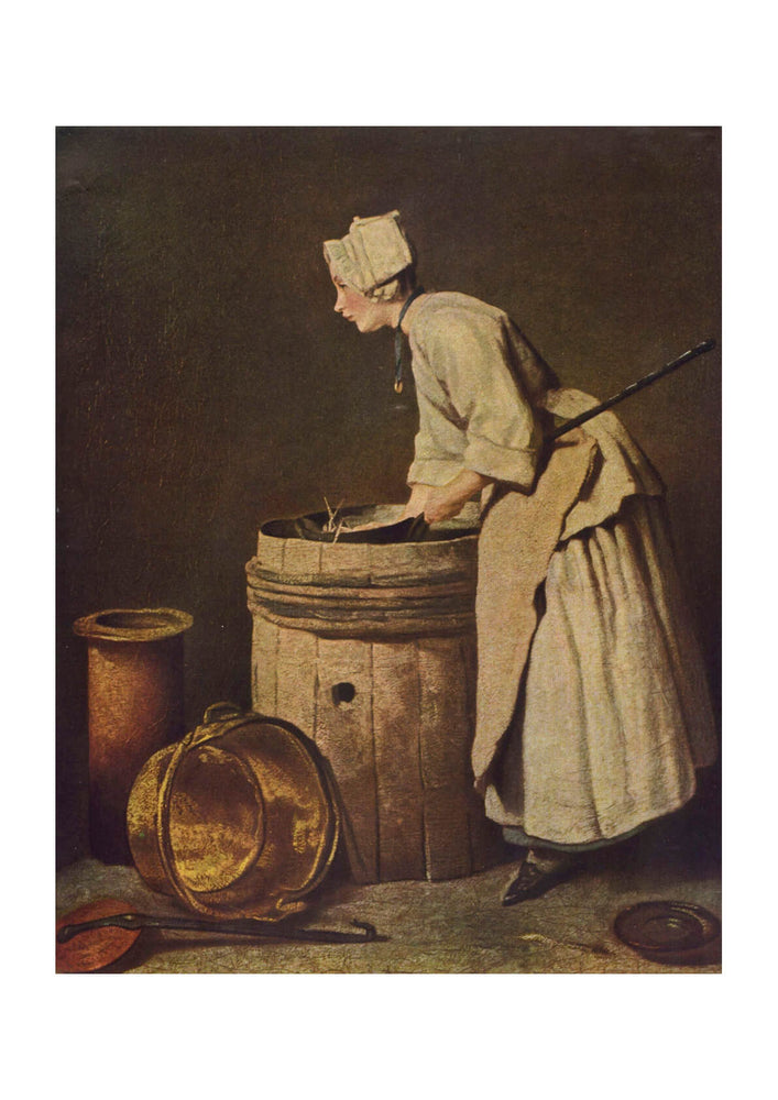 Jean Chardin - Washing Clothes
