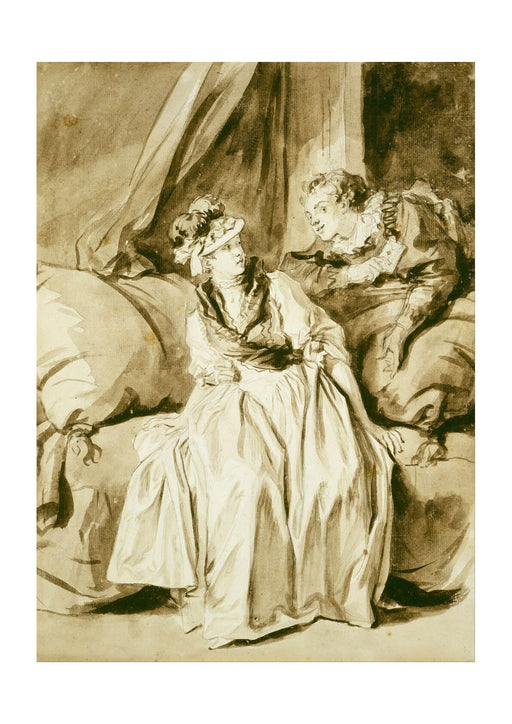Jean Fragonard - The Letter or The Spanish Conversation