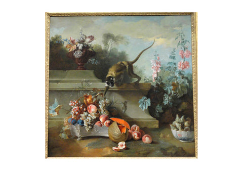 Jean Oudry - Still Life with Monkey Fruits and Flowers