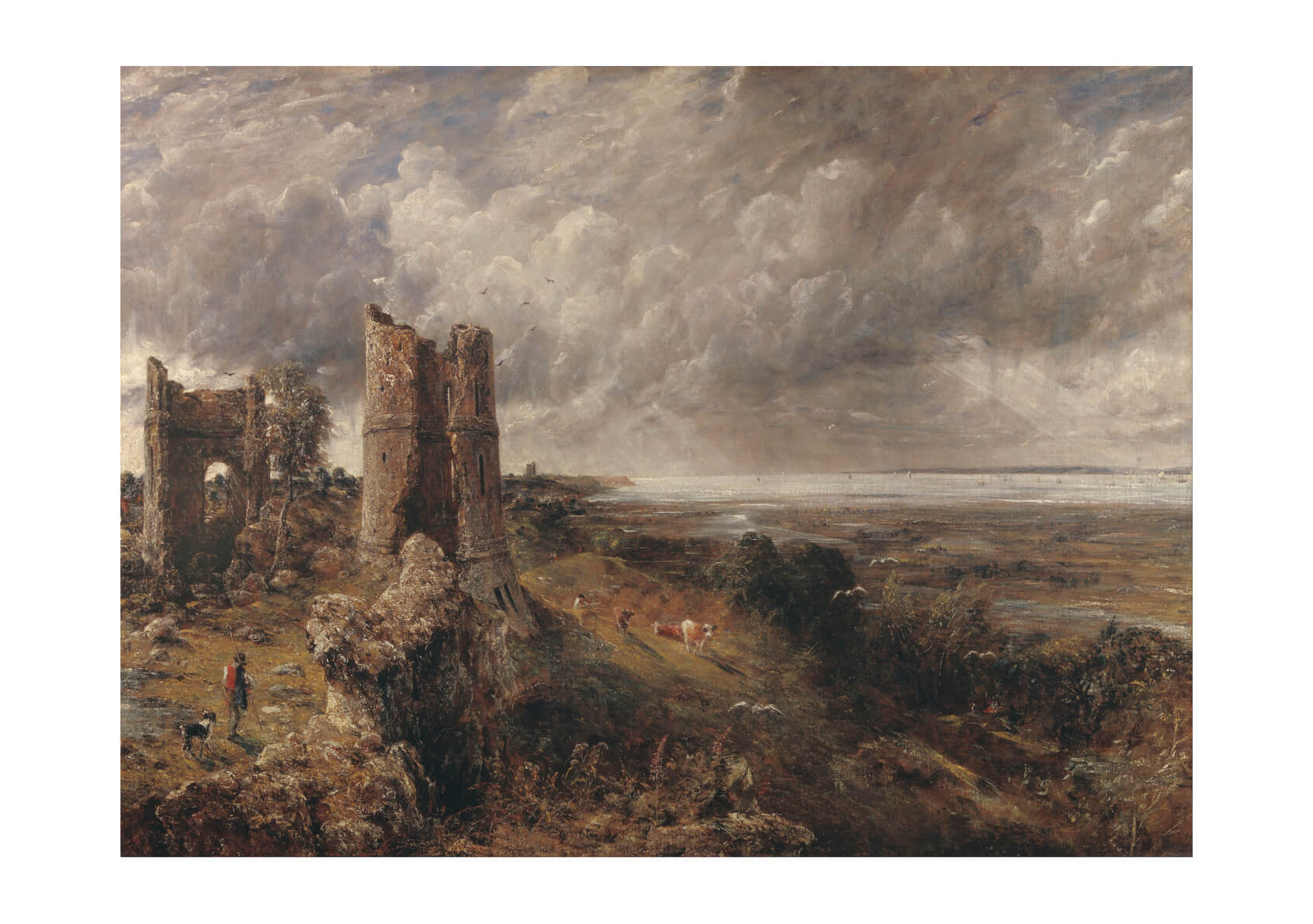John Constable - Hadleigh Castle The Mouth of the Thames