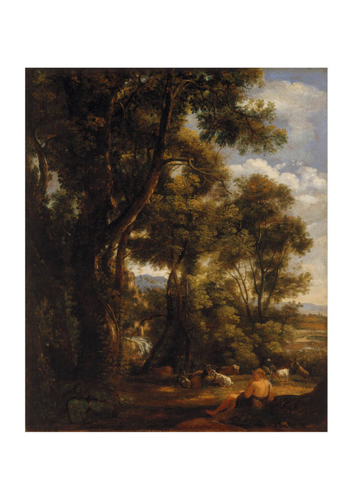 John Constable - Landscape with goatherd and goats