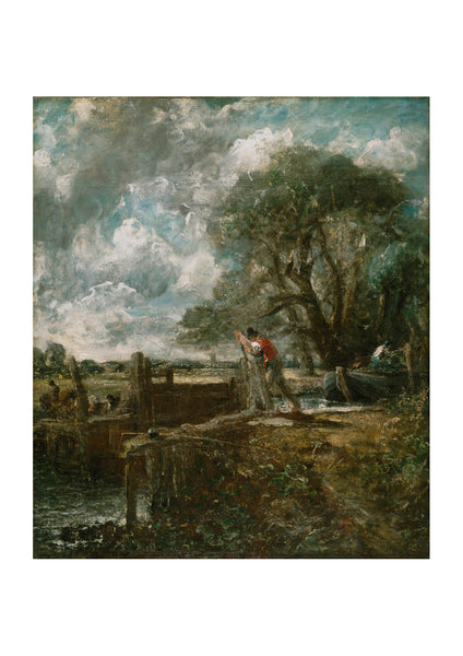 John Constable - Sketch for A Boat Passing a Lock