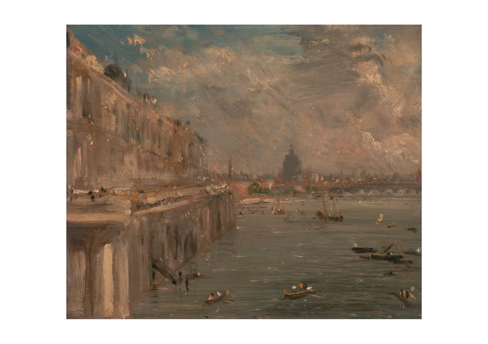 John Constable - Somerset House Terrace from Waterloo Bridge