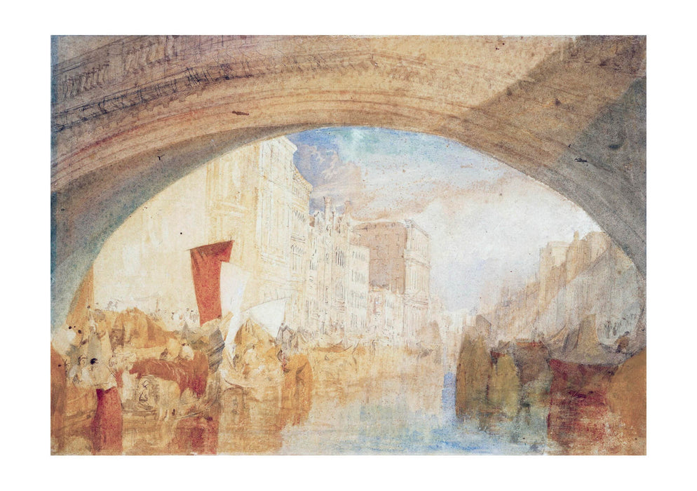 Joseph Mallord William Turner - Grand Canal from below Rialto Bridge