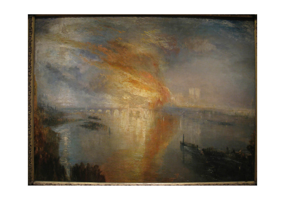 Joseph Mallord William Turner - The Burning of the Houses of Lords