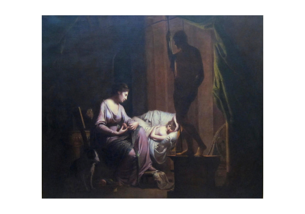 Joseph Wright - Penelope Unravelling Her Web by Lamp Light