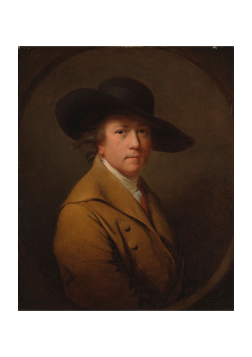 Joseph Wright - Self Portrait Brown coat and hat