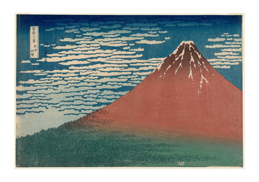 Katsushika Hokusai Wind Clear Weather Red Fuji