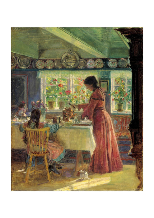 Laurits Tuxen - Pouring the morning coffee