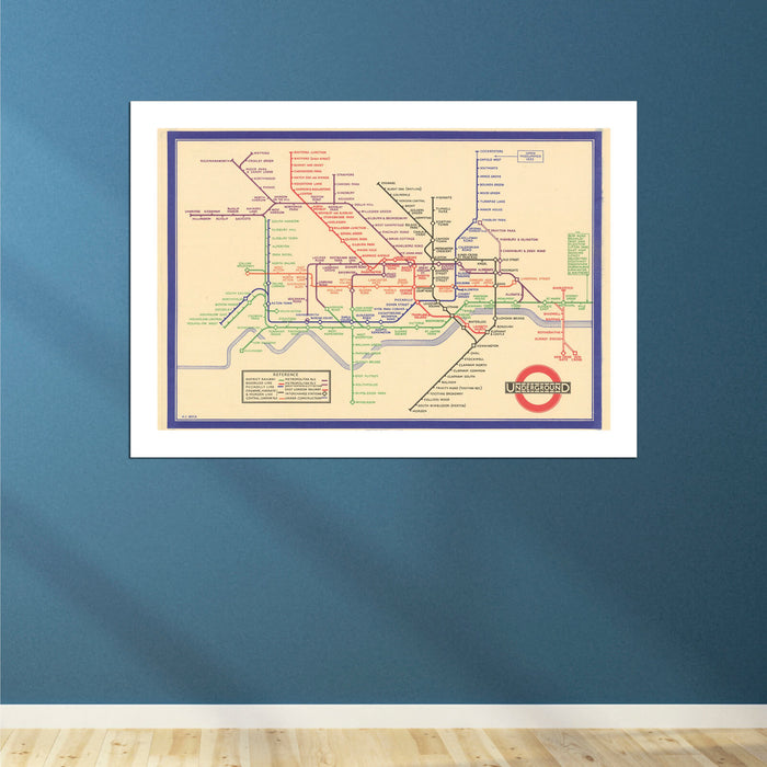 London Tube Map 1933