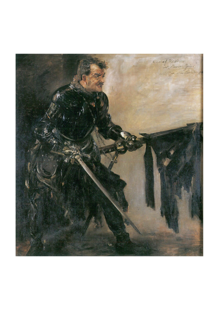 Lovis Corinth - Knight in Black