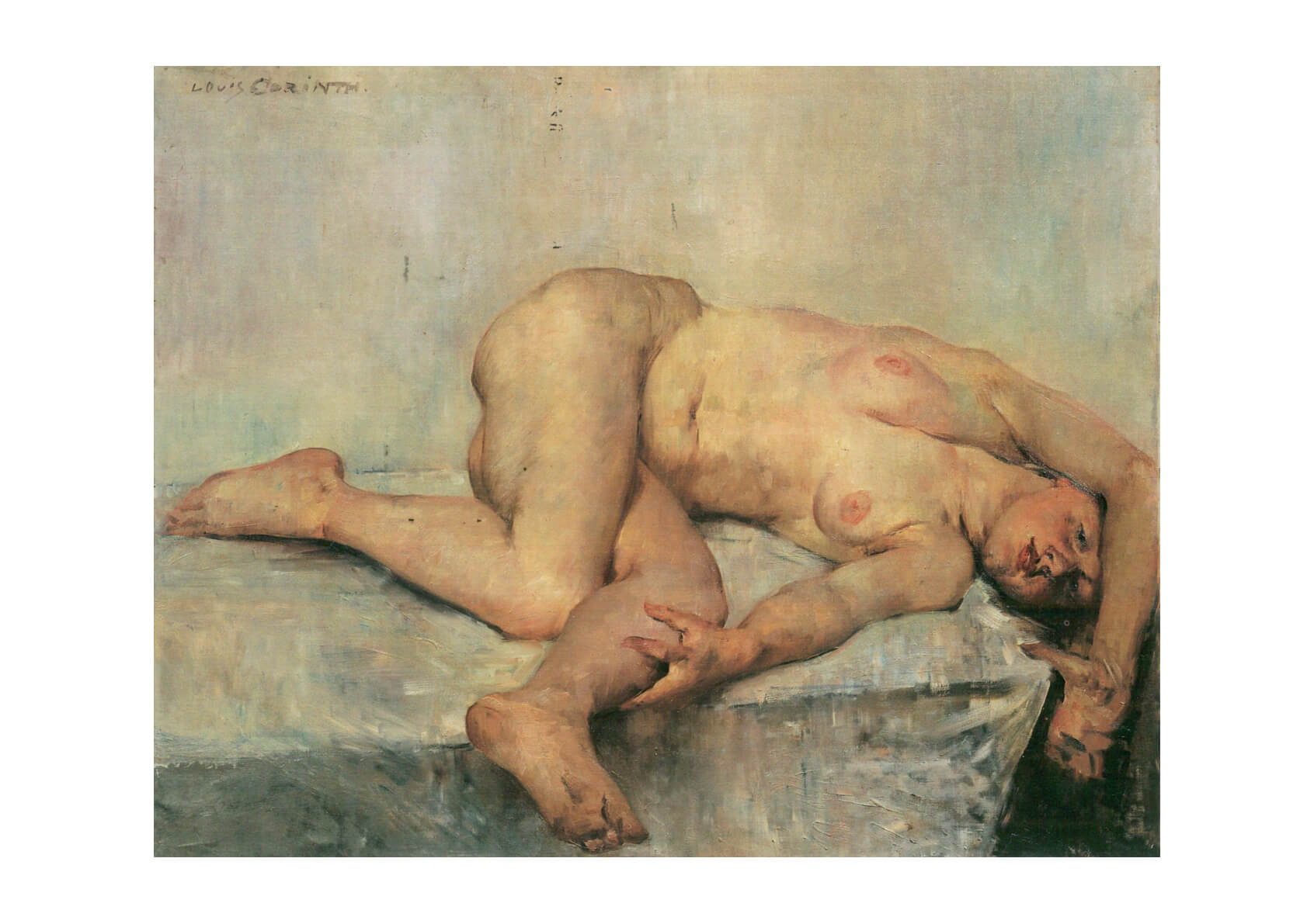 Lovis Corinth - Nude Woman Lying Down
