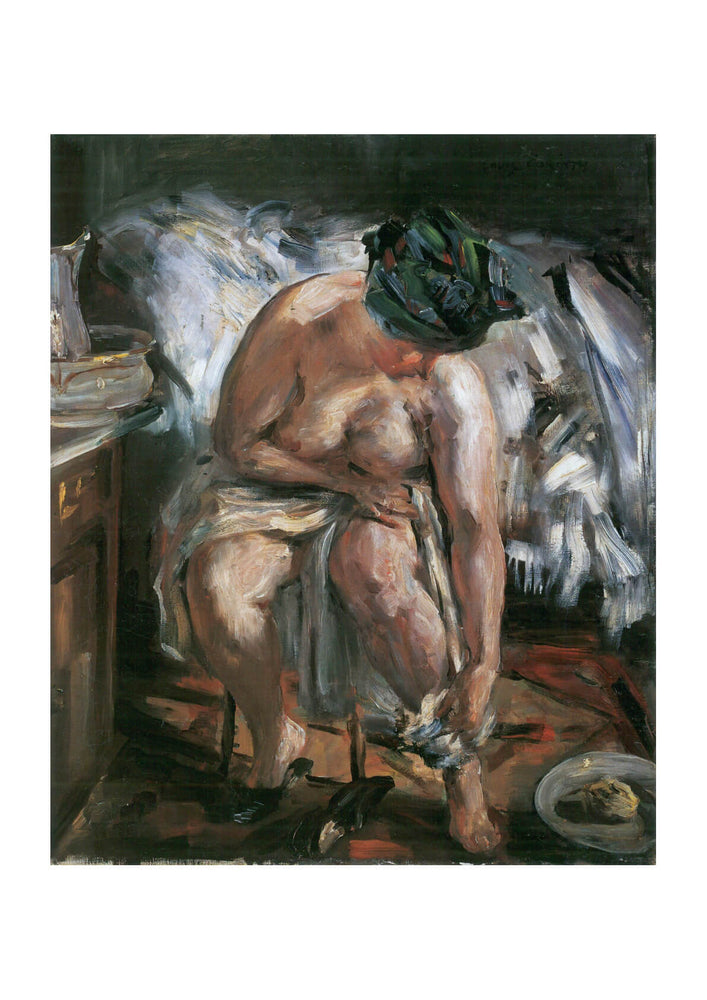 Lovis Corinth - Nude Woman Sitting on Chair