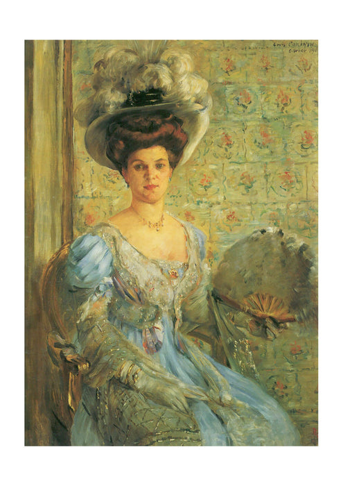 Lovis Corinth - Portrait of Woman in Blue