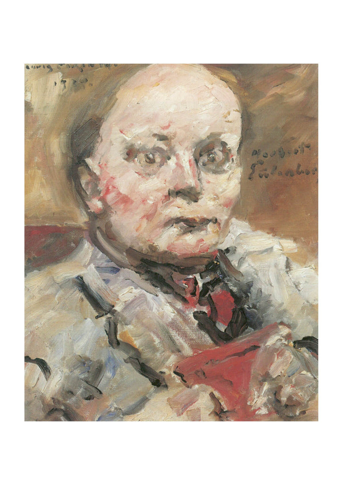 Lovis Corinth - Portrait of man with red