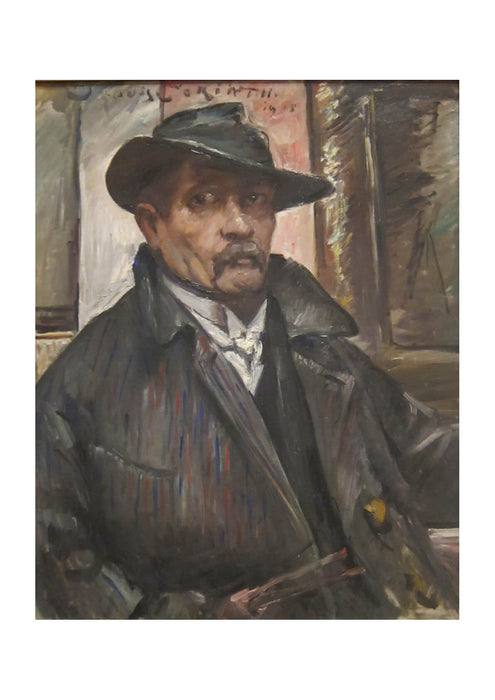 Lovis Corinth - Self-portrait with Hat and Coat