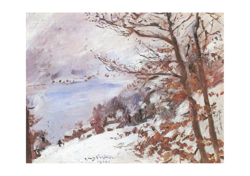 Lovis Corinth - Walchensee im Winter 1923
