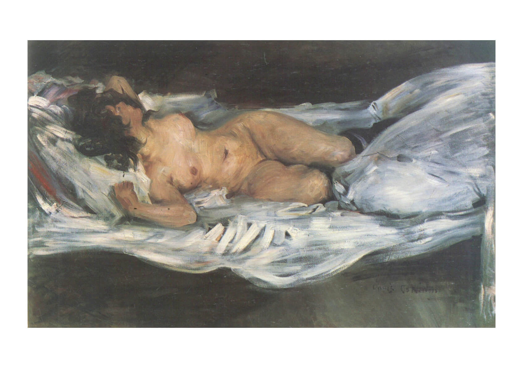 Lovis Corinth - Woman in Bed