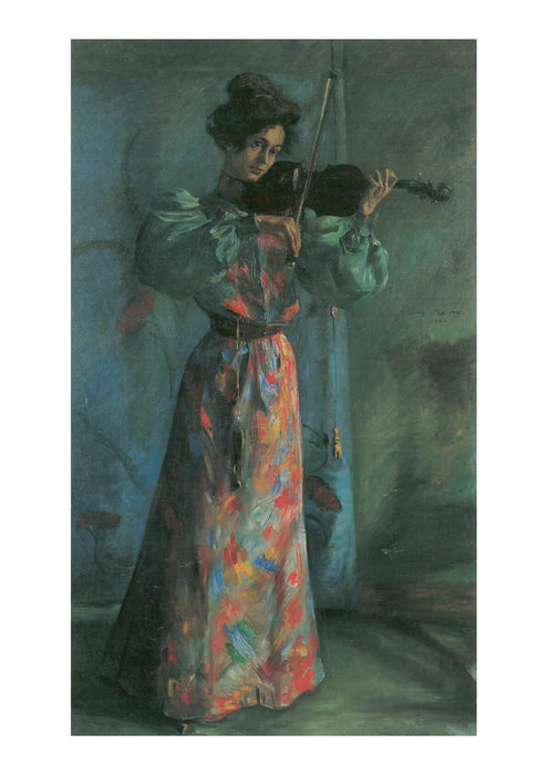 Lovis Corinth - Woman with Violin