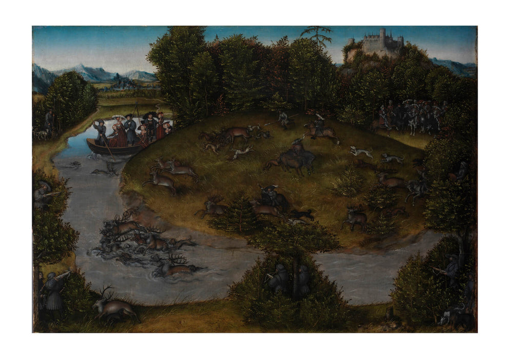 Lucas Cranach Elder - Stag Hunt Of Elector Frederic Wise