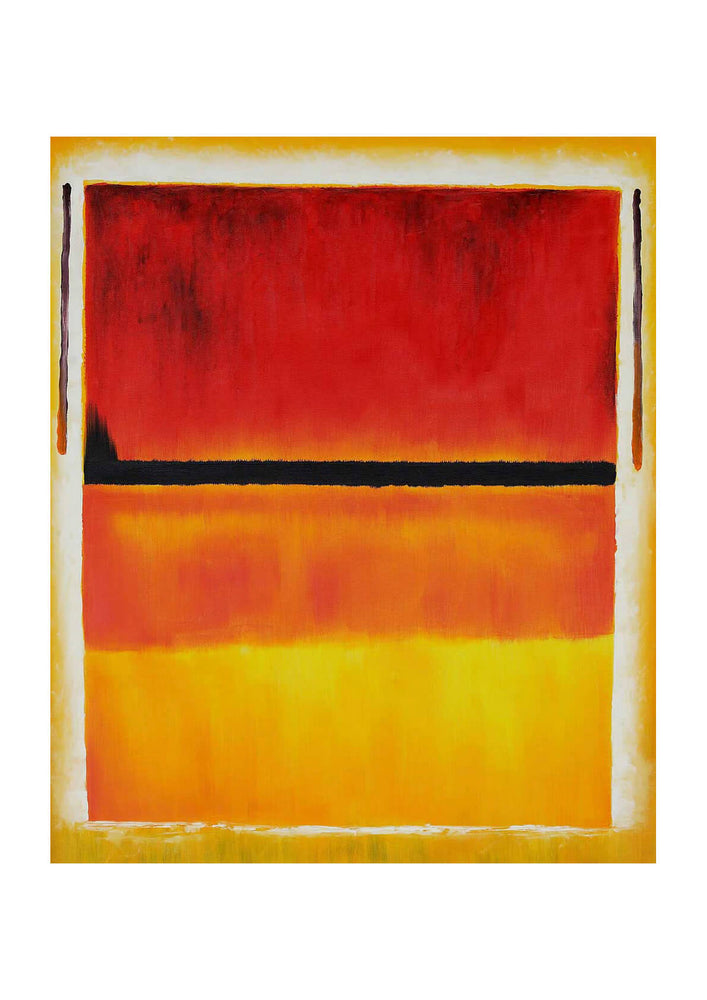 Mark Rothco Untitled Violet Black Orange Yellow on White and Red, 1949