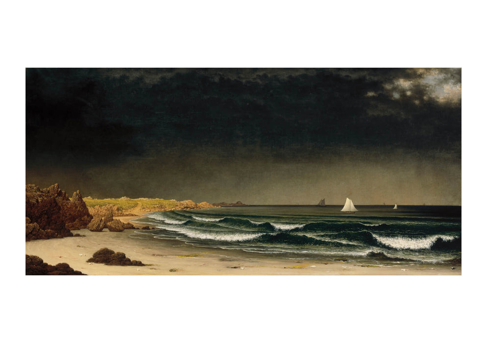 Martin Johnson Heade - Approaching Storm Beach near Newport