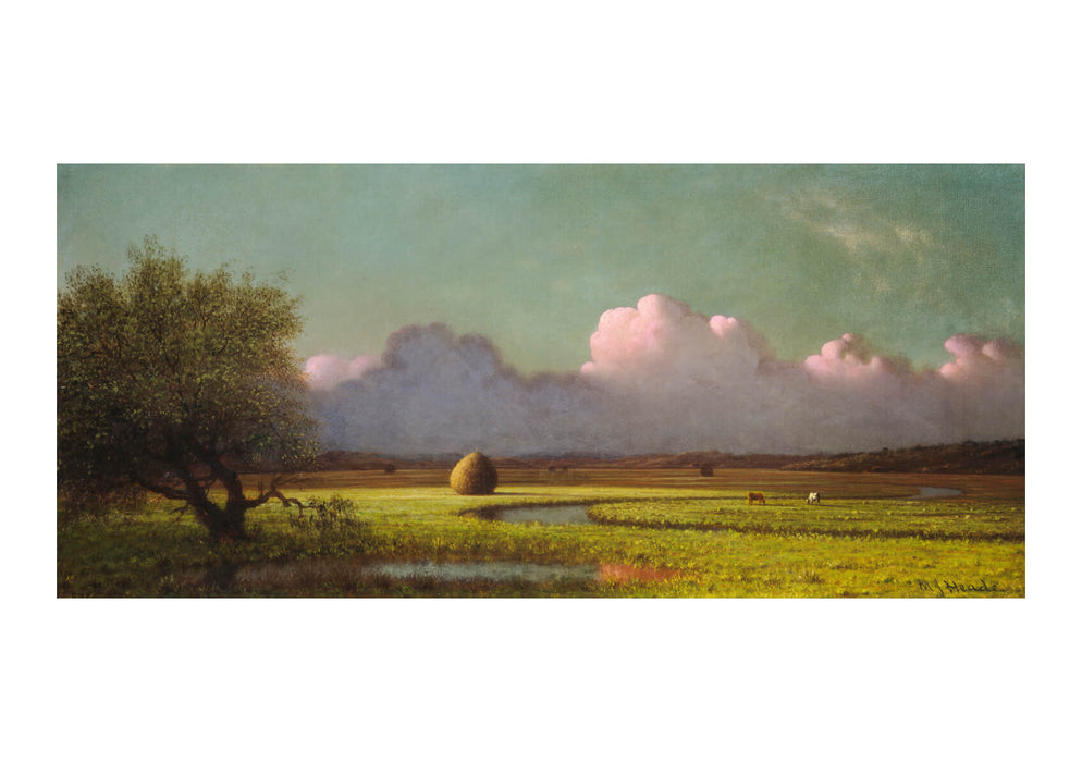 Martin Johnson Heade Sunlight and Shadow The Newbury Marshes