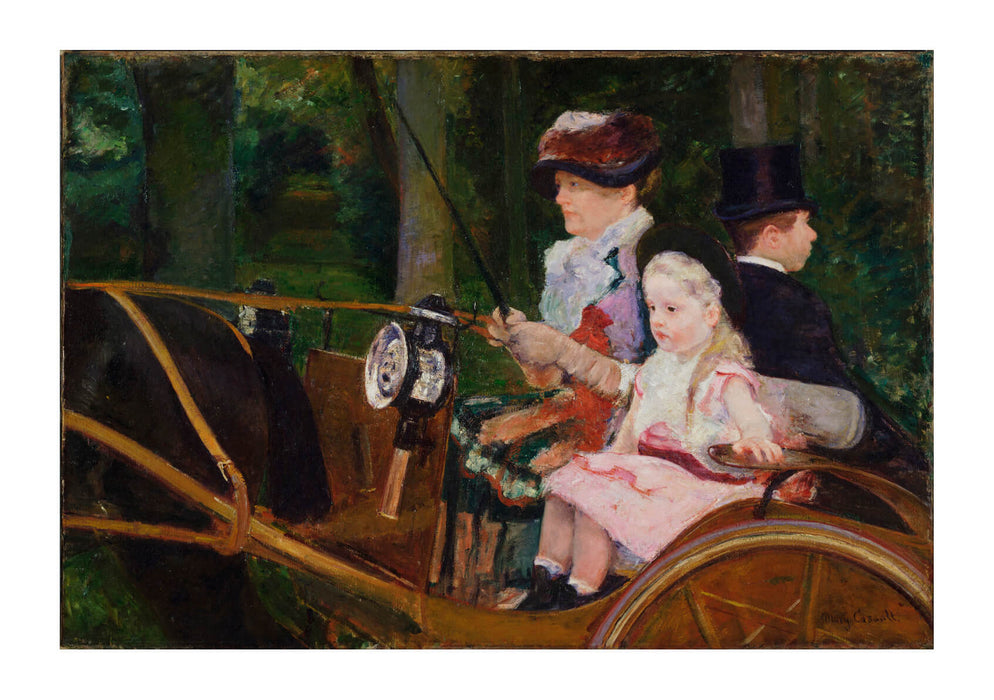 Mary Cassatt - American A Woman and a Girl Driving