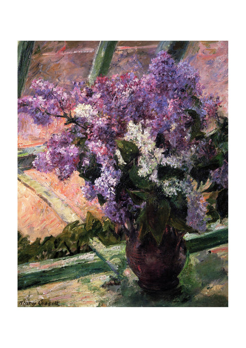 Mary Cassatt - Lilacs in a Window