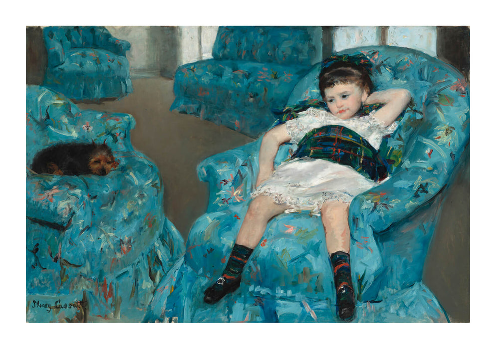Mary Cassatt - Little Girl in a Blue Armchair