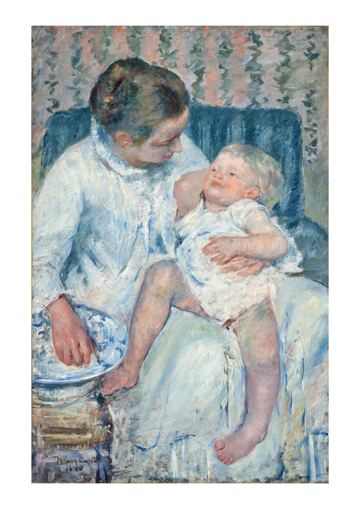 Mary Cassatt - Mother About to Wash Her Sleepy Child