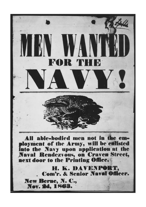 Men Wanted for the Navy