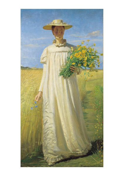 Michael Ancher - Anna Ancher returning from the field