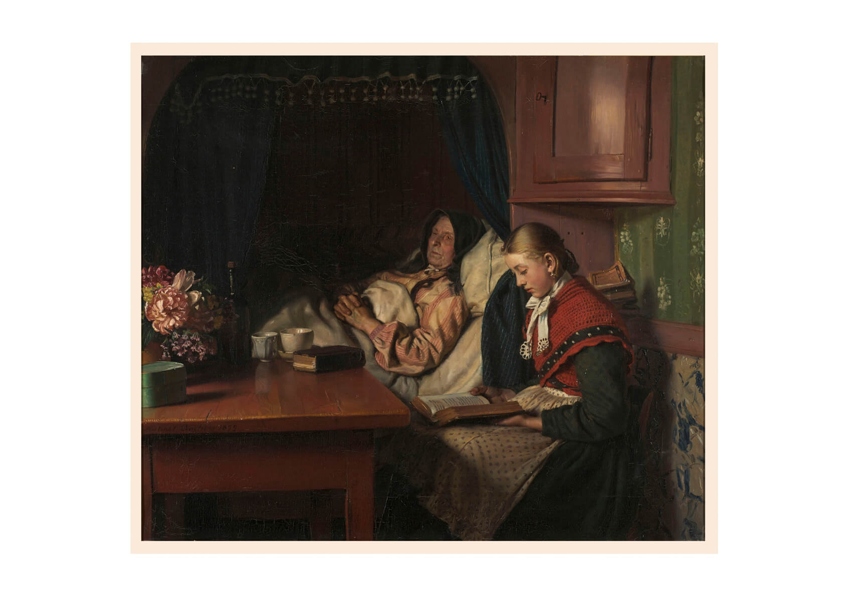 Michael Ancher - By Grandmothers sickbed