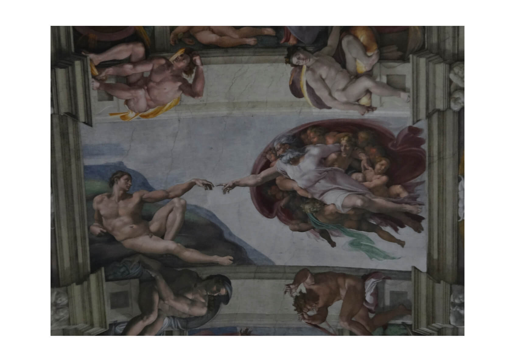 Michelangelo - The Creation of Adam Dark