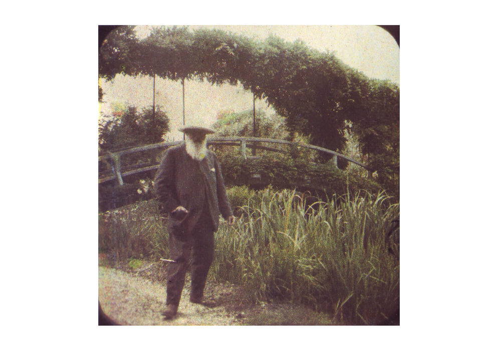 Monet and his gardens, an amateur stereographic Autochrome