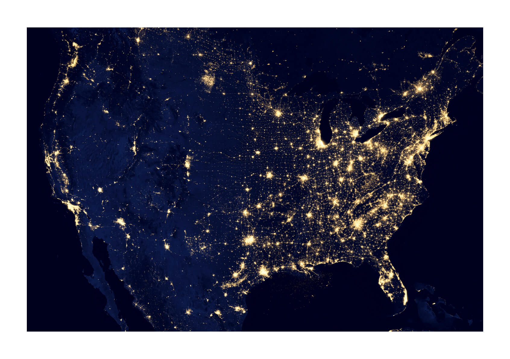 NASA - City Lights of the United States