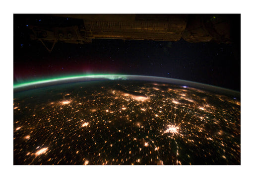 NASA - USA with Aurora Borealis