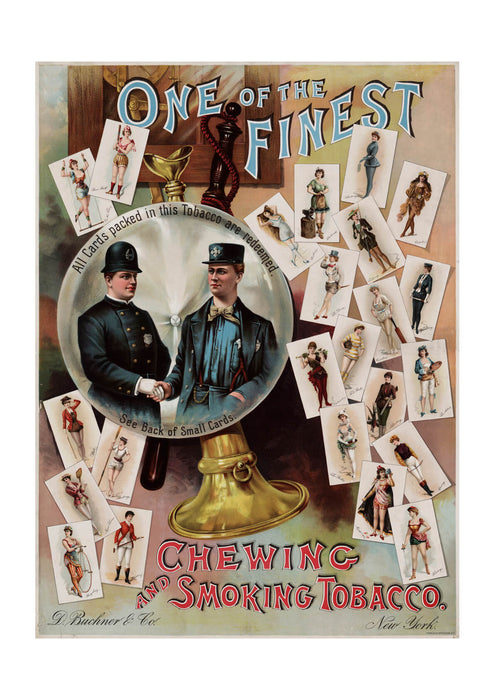 One of the finest advertising poster for tobacco collecting cards
