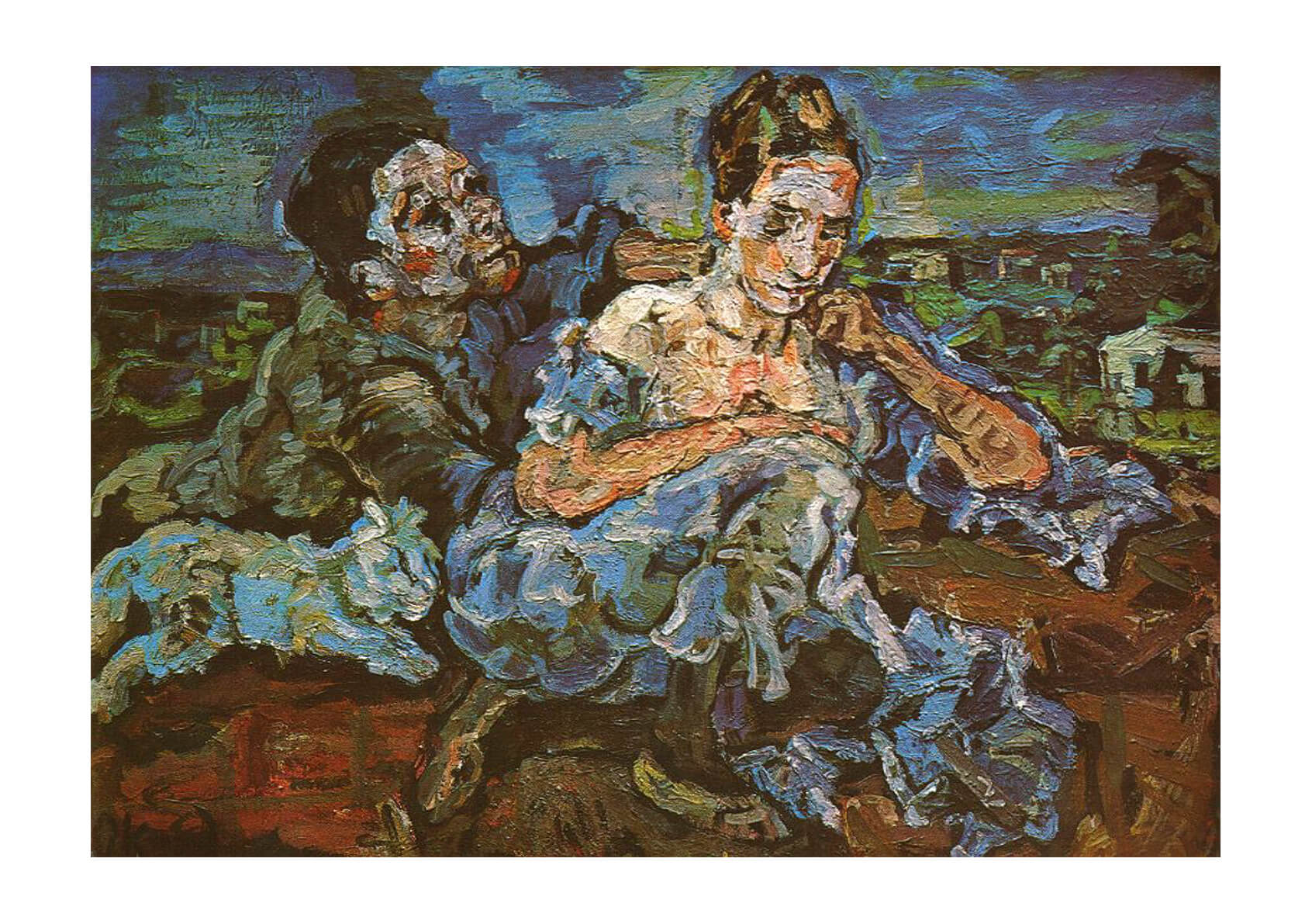 Oskar Kokoschka Lovers with a Cat