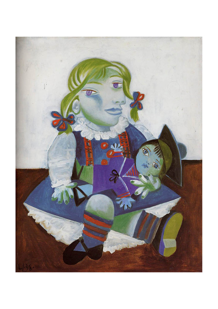 Pablo Ruiz Picasso Portrait Of Maya With Her Doll