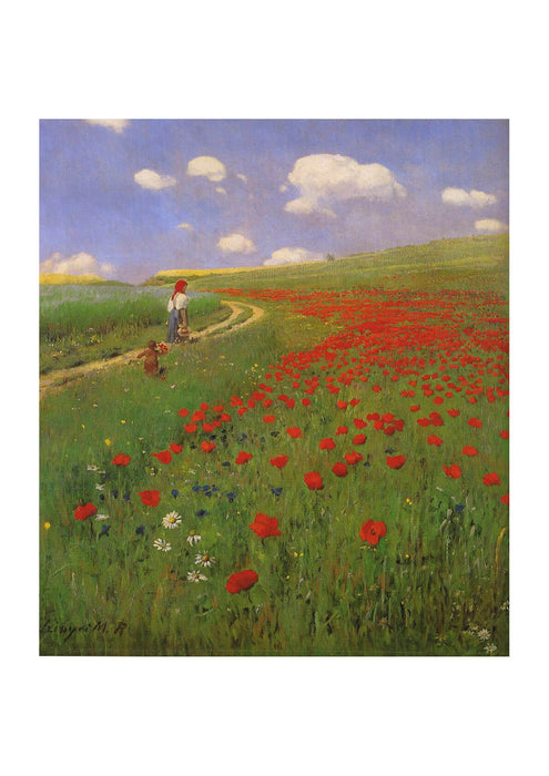 Pal Szinyei Merse - A Field Of Poppies