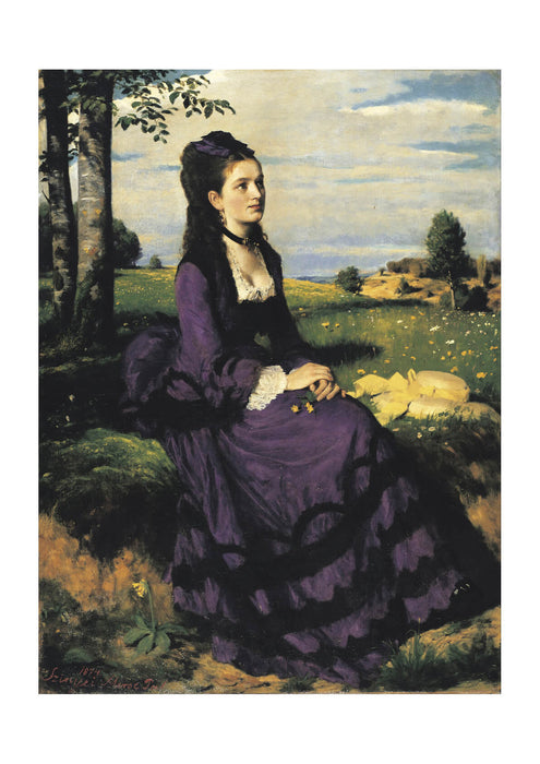 Pal Szinyei Merse - Lady in Violet