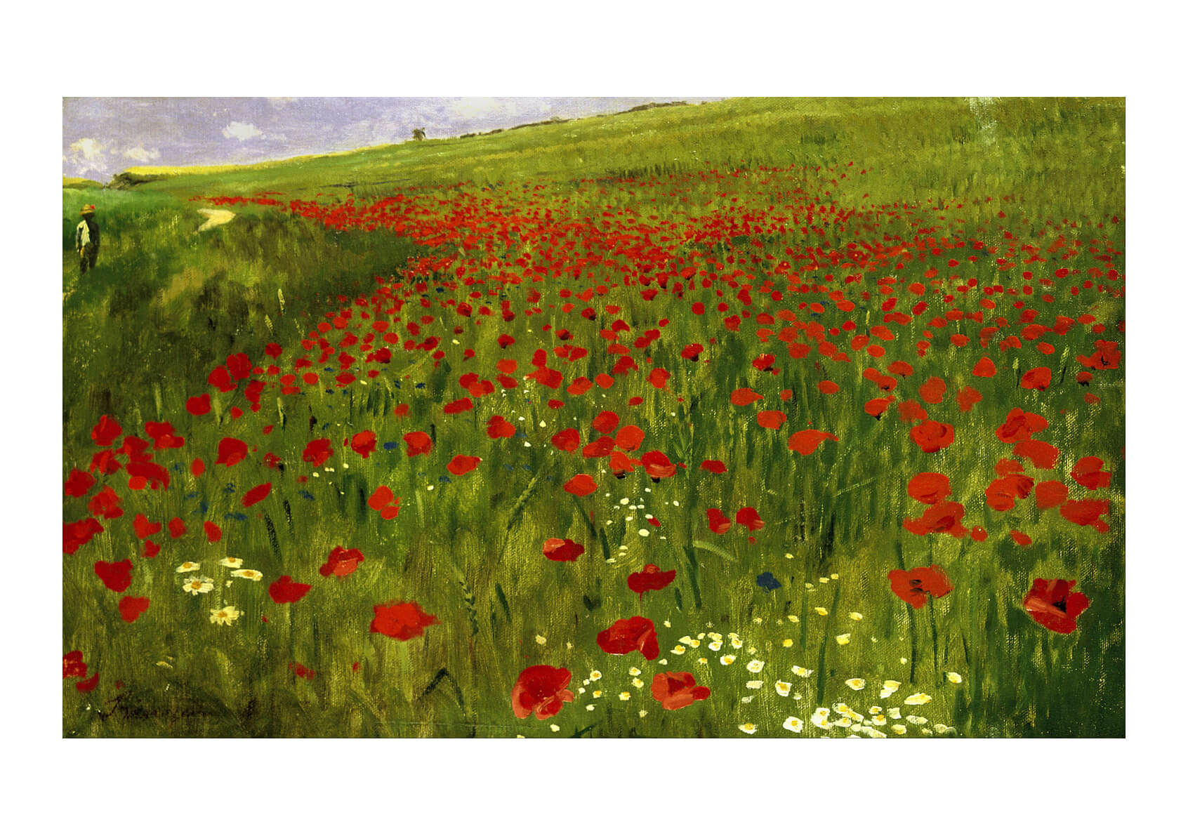 Pal Szinyei Merse - Meadow with Poppies